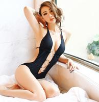 Free shipping sexy one piece Black swimming suit fashion monokini swimwear,bathing suits for women