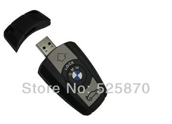 Free Shipping ! USB2.0 flash drive high speed 2GB 4GB 8GB 16GB 32GB  Cartoon car key usb drive