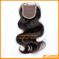 """Peruvian virgin hair body wave queen hair 3.5""""x 4"""" lace closures unprocessed bleached knots free part closure Free Shipping"""
