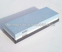 White corundum knife sharpener whetstone 2000/5000#  block grinding oil stone with silicon base