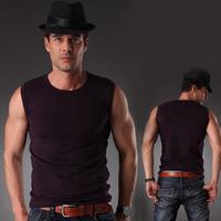 HOT  mens  hot shapers body cheap sports blank sleeveless t shirt men undershirt muscle khaki XL racerback spandex