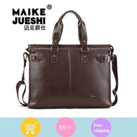 Counter genuine men's handbag business man bag Men 's male bag computer bag A4 paper