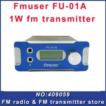 FU-01A 1W  Broadcast Fm Radio Transmitter Silver  Black Fm Radio Transmitter FM exciter Free Shipping