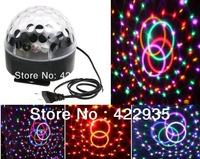 New Style 6LED 6Col Crystal Magic Ball Effect Light Disco DJ Stage Lighting Free Shipping wholesale