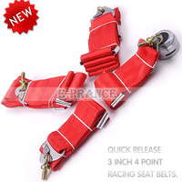 [Cheap] Car Seat Belt  with 3 inches 4Point Harness Racing Satefy Seat Belt