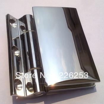 Wall to glass clamp, glass chrome shower hinge  (LK-751)