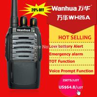 2pcs a pair WANHUA ham radio UHF transceiver 5W two-way radio