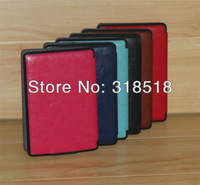 Free Shipping Blue Pink 10 Pcs=1Lot PU Smart Leather Case Cover Sleep Wake Up Function For Amazon Kindle Paperwhite