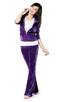 Velvet suit, multicolor velvet suit leisure suit#Free shipping