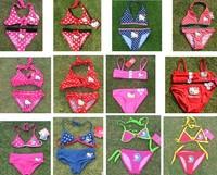 Free Shipping Girl Kids Bikini Children Size 2-9 Y Hello Kitty Swimsuit Swimwear Bathing Swimming Costume