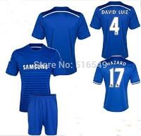 14 15 Chelsea Home blue soccer uniform suit 2015 Thail Quality Chelsea Football Jersey&short +patch 10set/lot EMS/DHL shipping