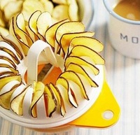 Microwave Apple Potato Crisp Chip Slicer Maker Practical DIY Set #7263