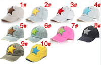 2013 Hot Sale Pentagram Design Baby Baseball Cap Fashion Five-pointed Star Style Kids Sports Cap Children Cotton Hole Top Hat