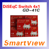 12pcs 4 in 1 GD-41C 4x1 DiSEqC Switch Satellites FTA TV LNB Switch for satellite receiver  free shipping