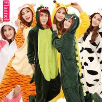 Free Shipping Adult Onesies Flannel Sleepwear Cartoon Animal Pyjamas Cosplay One-piece Pajamas Halloween Costumes for Women