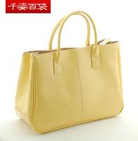 Free shipping! Women's high quality fashion colorful handbag, 17 colors to choose