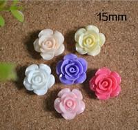 RNB1003, resin flower, 15mm rose flower, flat back , DIY findings accessories