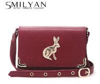 Smilyan vintage Unique Rabitt cross-body shoulder bag cute Mr. Rabbit women small messenger bag women wallet free shipping 88692