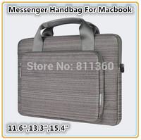 "High Quality Brand Protecter Case Bag For Macbook 11.6, 13.3. 15.4"" Laptop Handbag, Wholesales,Message Bag, Free Ship"