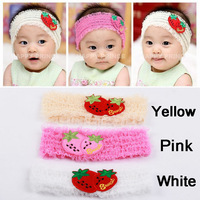 (10pcs/lot) Baby Hair Band Wholesale Infant Children Headband Baby Hair Accessories With Strawberry Pattern Free Shipping