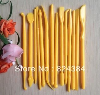 Free shipping  14PCS Fondant Cake Decorating Flower Modelling Craft Clays Sugarcraft Tool Cutter