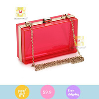 2013 Fashion women Clutch Rings Evening Bag crystal dimond Clutch evening bags party bag with shoulder chian