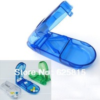 Free Shipping 5x Pill Tablet Cutter Splitter Divide Storage Medicine Cut Dose Compartment Box 60-380