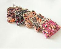 PVC flower metal frame clutch purse coin bag  gift bag    animal design