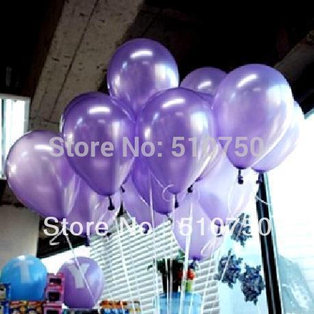 100p 10 inch 1.2g Light Purple Latex Balloon Helium Balloon Birthday Party Wedding Decoration Balloon Kids Toy(China (Mainland))