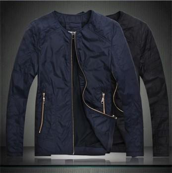 2013 top men's fashion boutique minimalist black Slim casual jacket dark blue jacket XXXL 8.9