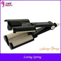 Newest  Heat Ceramic Anion Hair Straightener Curling Iron 110V-220V Tourmaline Ceramic Electric Hair Roller