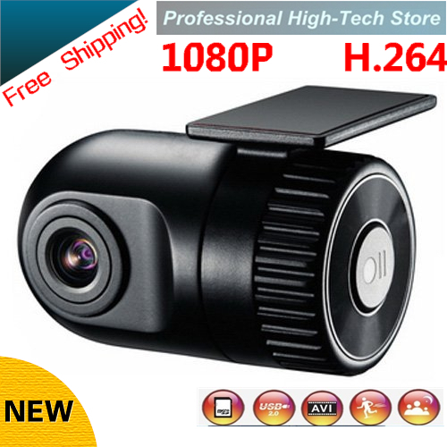 Free Shipping!1920*1080P D168 HD Smallest Car Camera 140 high definition wide-angle lens 12V Car DVR Cam recorder G-sensor(China (Mainland))
