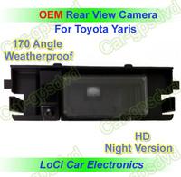 Free shipping! HD Rear View Toyota Yaris 2009- 2012 CCD night vision car reverse camera auto license plate light camera
