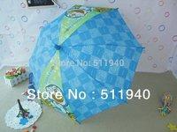 2 pieces blue and green color Doraemon cartoon kids umbrellas boys umbrellas