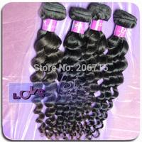 6A unprocessed Brazilian loose wave hair big wave Brazilian Virgin Hair weave Human Hair  Natural Color 3pcs lot Wholesale