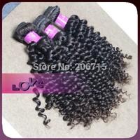 3pcs lot Brazilian Kinky Curly Human Hair in Natural Color Cheap Unprocessed Virgin Hair Weaving No Tangle No Shedding