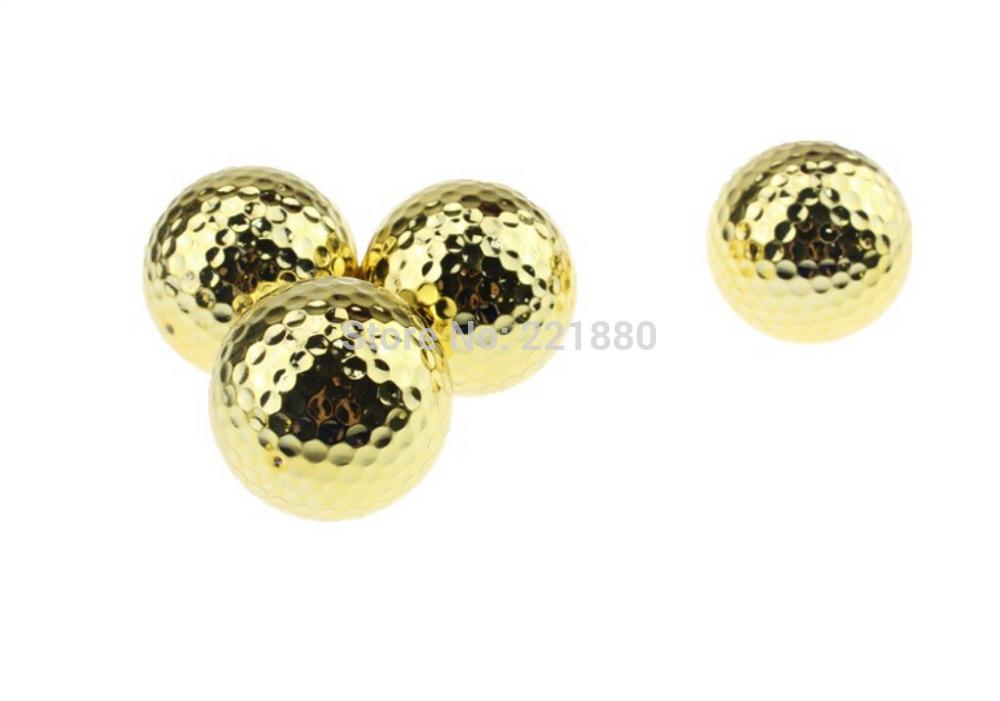 Free Shipping New Design Two Piece Golden Golf Balls With 2 Piece Tournament Golf Ball 12pcs/dozen(China (Mainland))