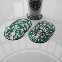 Free shipping (6pcs/lot) Starbucks mermaid classic green slip coasters/cup pad