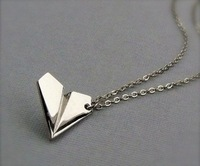 wholesale 30pcs/lot Harry's Paper Airplane Necklace 1D ONE DIRECTION Jewelry Set Fans Gift Free shipping