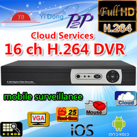 New Upgrade p2p cloud service h.26416ch  DVR with 2ch Audio Networking, Mobile Phone free ddns, h.264Standalone DVR Freeshipping