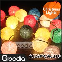 Beautiful party creative Chrismas indoor string lights,garland lamp,3M,AC220V,ball Pendant for Chrismas tree,decoration lamp
