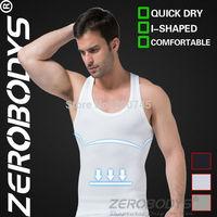 10pcs ZEROBODYS Comfortable Mens Body Shaper Quick Dry I-Shaped Vest 369 WH Compression Wear Body Slimming Shapewear Burning Man