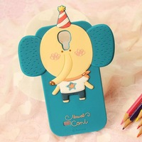 Free Shipping 1pcs/lot Rabbit Monkey Fox Lion Cat Owl Girl Lucy Silicone Romane Case for Samsung Galaxy S4 SIV i9500 9500