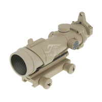 JJ Airsoft ACOG Style 1x32 Red Dot with Killflash / Kill Flash (Tan) FREE SHIPPING