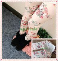 Women's best love 2014 The Korean fashion leggings women Denim Leggings BLack Roses wholesale Slim thin Free shipping