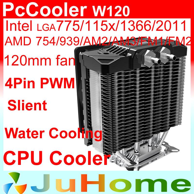 12cm fan, 5 heatpipe, side-blown, Water cooling / Air CPU cooler LGA2011/115x/1366, AMD AM2+ AM3+,FM1,FM2,CPU fan, PcCooler W120(China (Mainland))