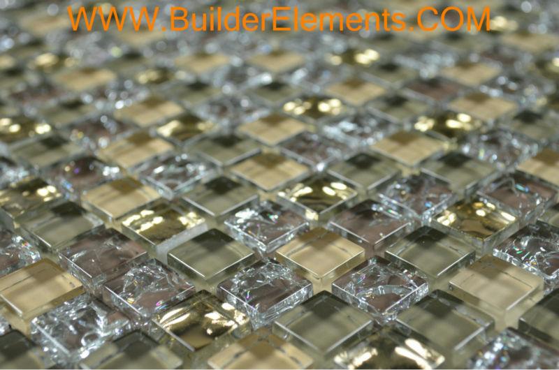Mosaic Tile As Interior Elements : Mosaic Tile As Interior Elements : Elements-Crystal-Glass-Tile-Brown ...