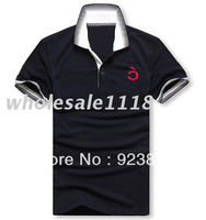 Hot selling Wholesale / Retail free shipping 2013 new brand men's Polo shirt fashion design polo shirts 100% Cotton top quality