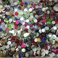 Mixed colors 1000pcs/lot  DIY Jewelry Garment / Phone Case Accessories  8mm Round Resin Rhinestones Flatback Rhinestones