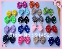 100pcs/lot baby ribbon bows with clip, Hairclips,Girls' hair accessories,
